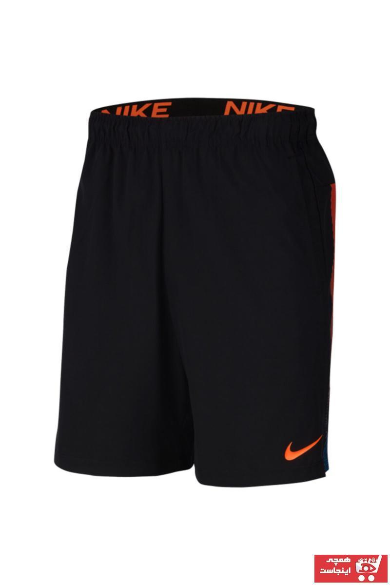 شلوارک ورزشی مردانه 2021 برند Nike اورجینال رنگ بژ کد ty72808094