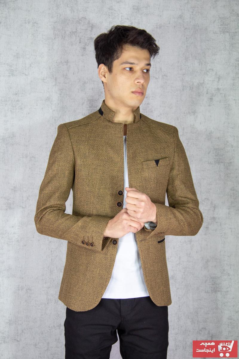 کت تک مردانه فروش برند twenplus رنگ قهوه ای کد ty76166722