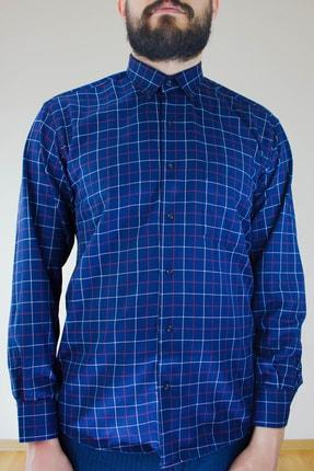 فروشگاه پیراهن کلاسیک اورجینال برند Ottomen رنگ لاجوردی کد ty77158112