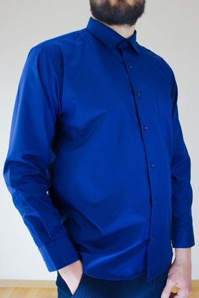 پیراهن کلاسیک مردانه نخی برند Ottomen رنگ لاجوردی کد ty77168710