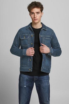 خرید اینترنتی ژاکت لی مردانه برند جک اند جونز رنگ لاجوردی کد ty80038918