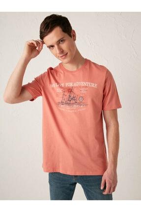 تی شرت زیبا مردانه برند ال سی وایکیکی رنگ نارنجی کد ty80767345