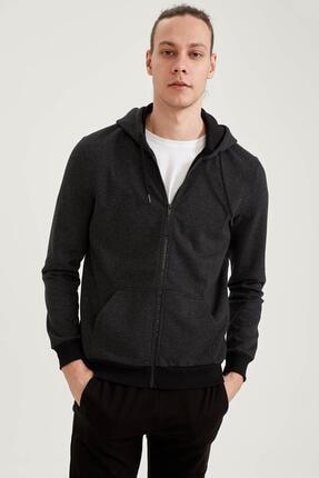 خرید سویشرت مردانه شیک مارک دفاکتو رنگ مشکی کد ty81682004