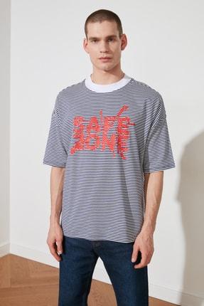 تی شرت مردانه ارزان قیمت مارک ترندیول مرد رنگ لاجوردی کد ty83000971
