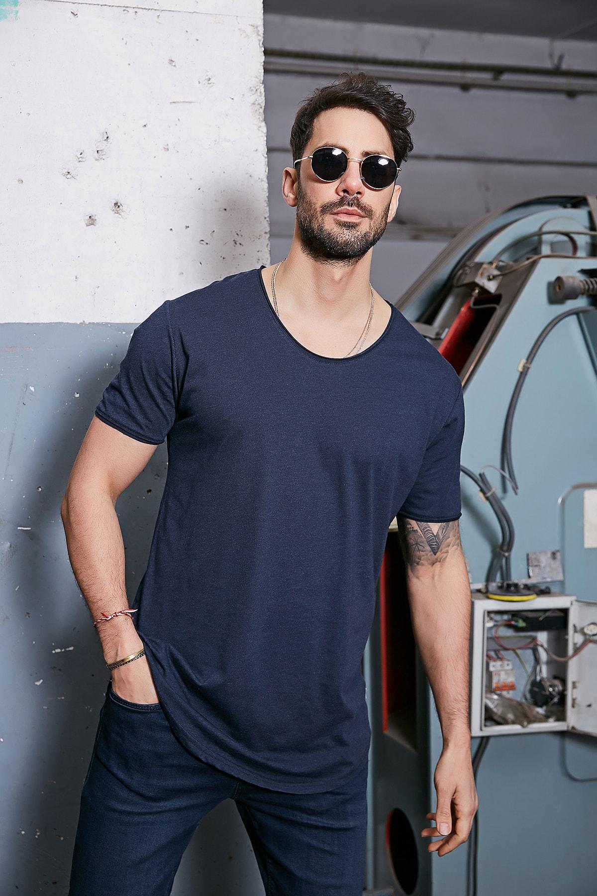 تی شرت مردانه برند Sateen Men رنگ لاجوردی کد ty83073046