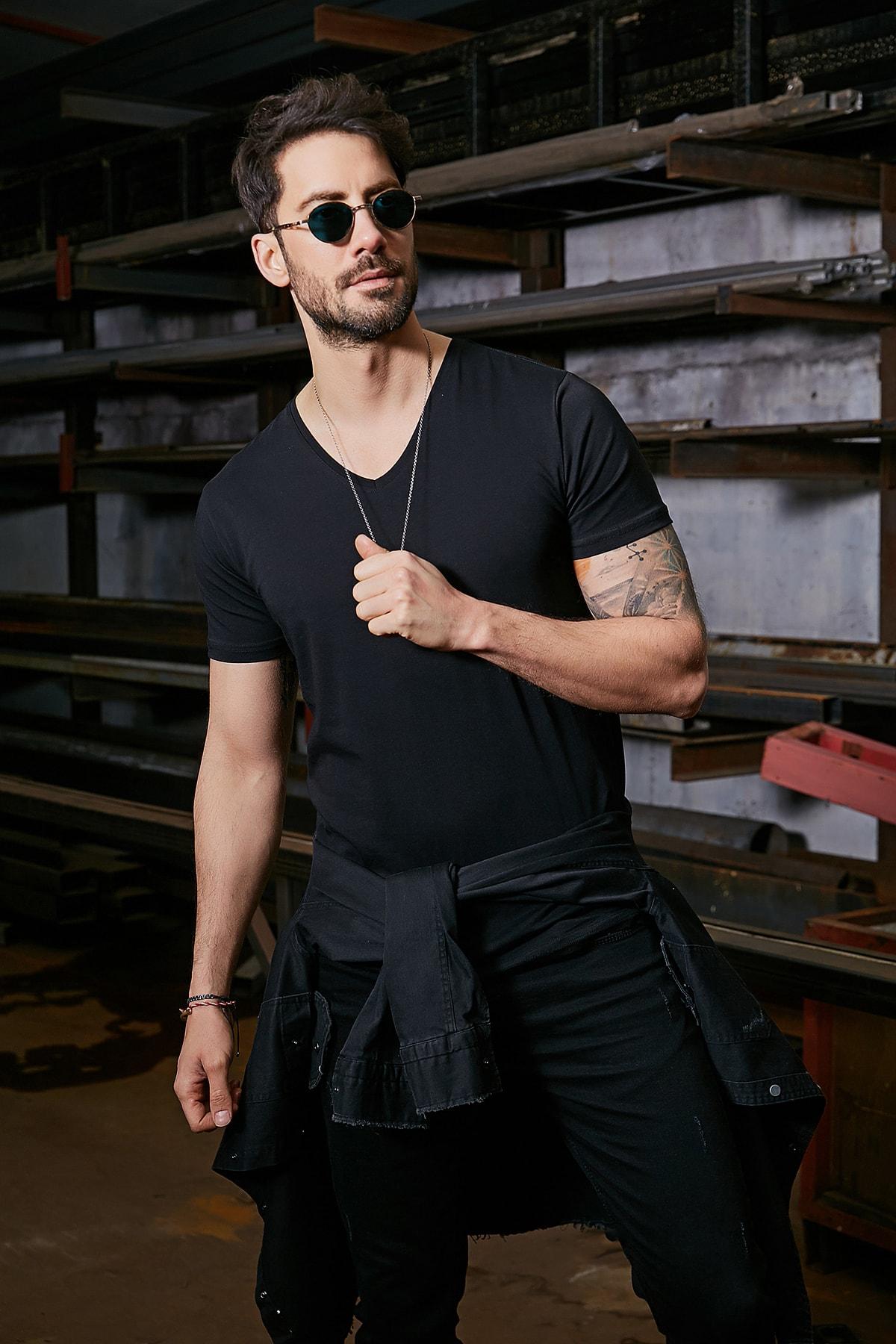 فروش پستی تی شرت مردانه ترک برند Sateen Men رنگ مشکی کد ty83073073