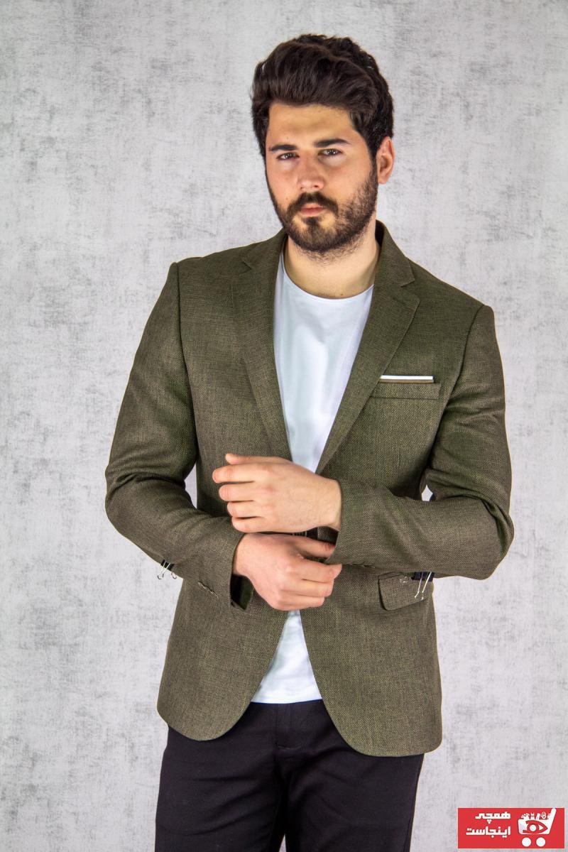 کت تک مردانه اینترنتی برند Twenhil رنگ خاکی کد ty86267874