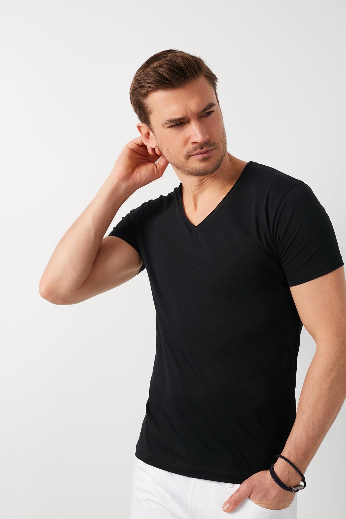 فروش نقدی تی شرت مردانه خاص برند Buratti رنگ مشکی کد ty86639805