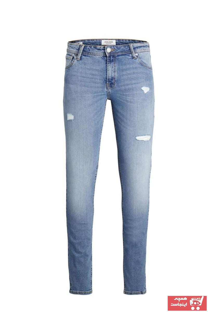 خرید مدل شلوار جین مردانه برند جک اند جونز رنگ آبی کد ty87408104