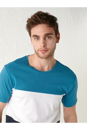تی شرت اورجینال برند ال سی وایکیکی LC Waikiki رنگ آبی کد ty87543213