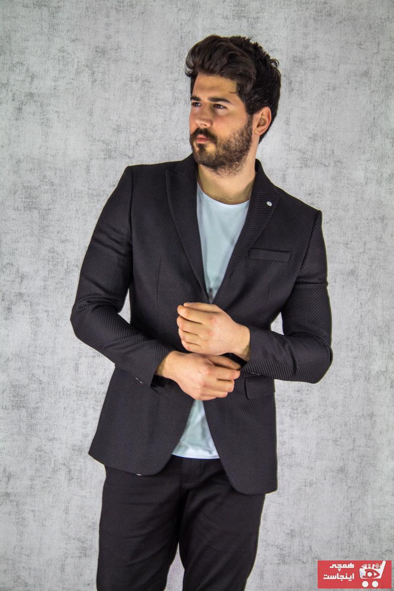 فروش کت تک مردانه حراجی برند twenplus رنگ مشکی کد ty87606578