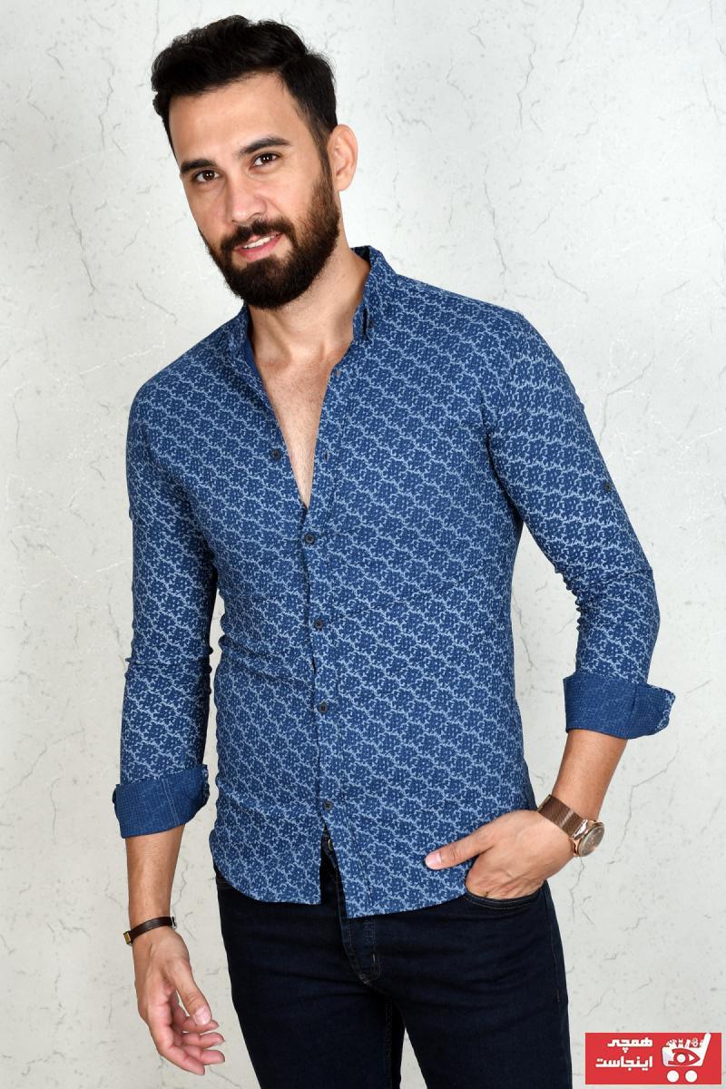 پیراهن زیبا مردانه برند دیپسی رنگ آبی کد ty88807393