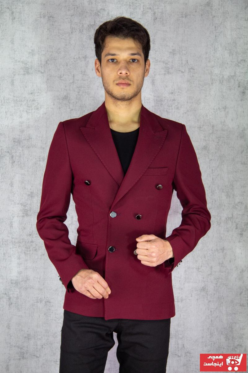 کت تک مردانه سال ۹۹ برند twenplus رنگ زرشکی ty88896807