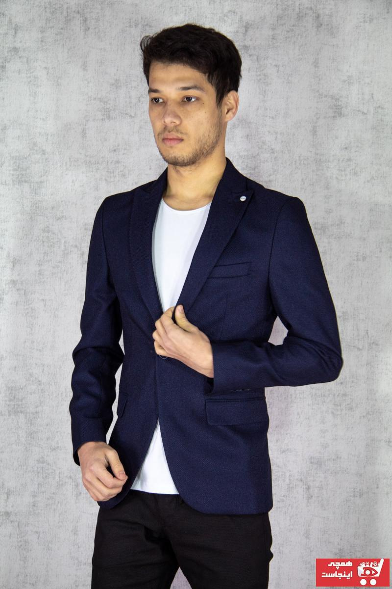 کت تک مردانه 2020 برند Twenhil رنگ لاجوردی کد ty89129558
