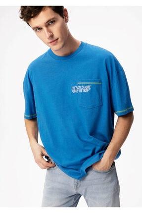خرید تی شرت خفن برند ماوی رنگ آبی کد ty89609231