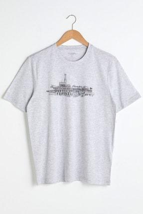 تی شرت مردانه ترک برند ال سی وایکیکی رنگ نقره ای کد ty89746508