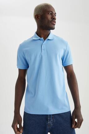 خرید اینترنتی پولوشرت شیک برند دفاکتو ترکیه رنگ آبی کد ty90344127