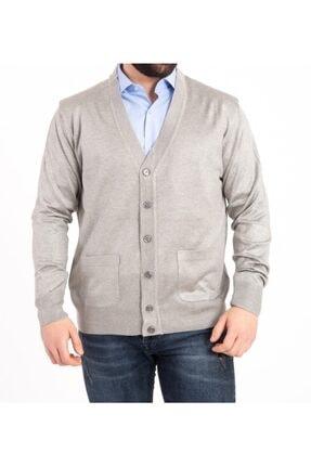 فروش ژاکت بافتی مردانه جدید برند nacar çarşı رنگ نقره ای کد ty90601708