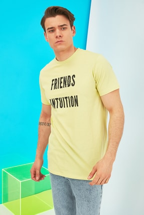 فروش تیشرت مردانه حراجی برند ترندیول مرد رنگ زرد ty90831442
