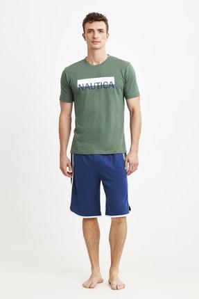 شلوارک مردانه ترک جدید برند Nautica رنگ سبز کد ty91471680