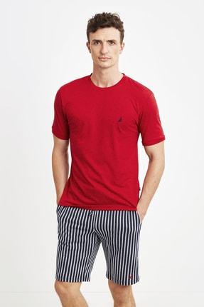 شلوارک مردانه جدید برند Nautica رنگ قرمز ty91489766