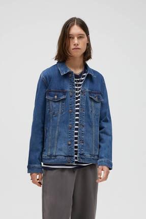 خرید ارزان ژاکت لی مردانه پیاده روی برند Pull & Bear رنگ آبی کد ty92353589