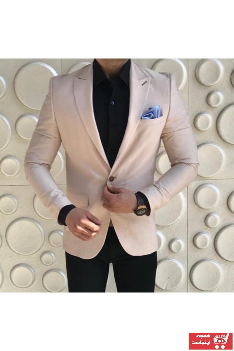 خرید انلاین کت تک جدید مردانه اصل برند leonmen رنگ بژ کد ty92542958