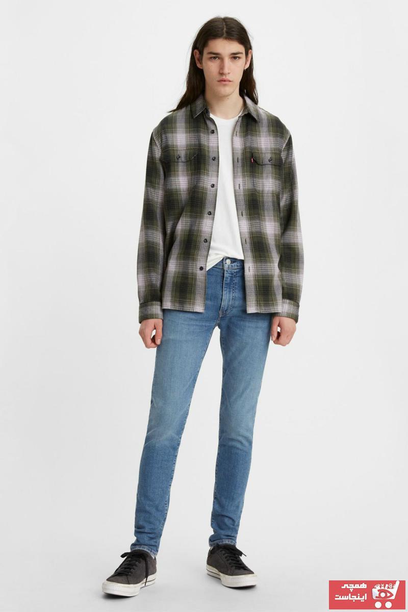 شلوار جین مردانه حراجی برند لیوایز رنگ آبی کد ty92622561