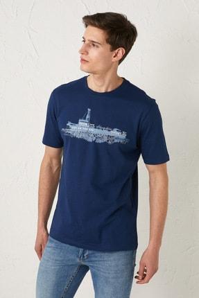 خرید نقدی تی شرت شیک برند ال سی وایکیکی ترک رنگ آبی کد ty93604295