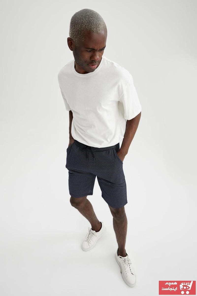 خرید انلاین شلوارک اورجینال مردانه مارک دفاکتو رنگ لاجوردی کد ty94530873