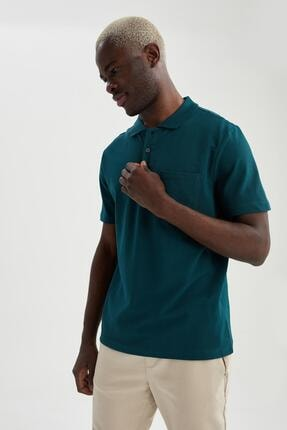 پولوشرت مردانه شیک و جدید برند دفاکتو ترکیه رنگ سبز کد ty95308671