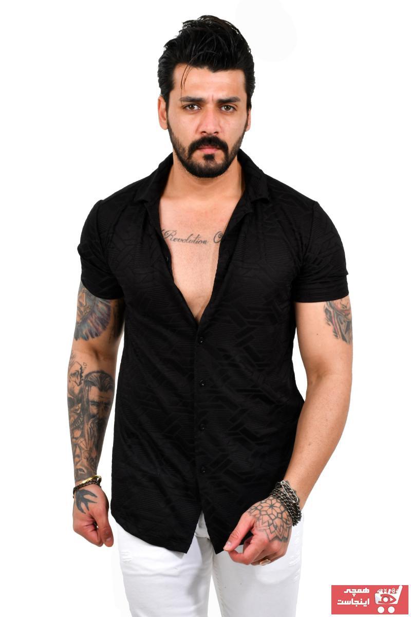 پیراهن مردانه اینترنتی برند دیپسی رنگ مشکی کد ty95372250