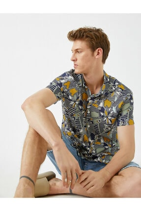 پیراهن مردانه برند کوتون رنگ لاجوردی کد ty95434650