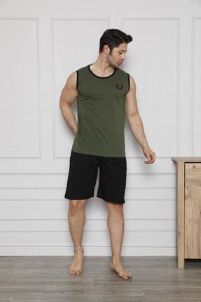 ست راحتی مردانه زیبا برند poll&aras رنگ سبز کد ty97327733