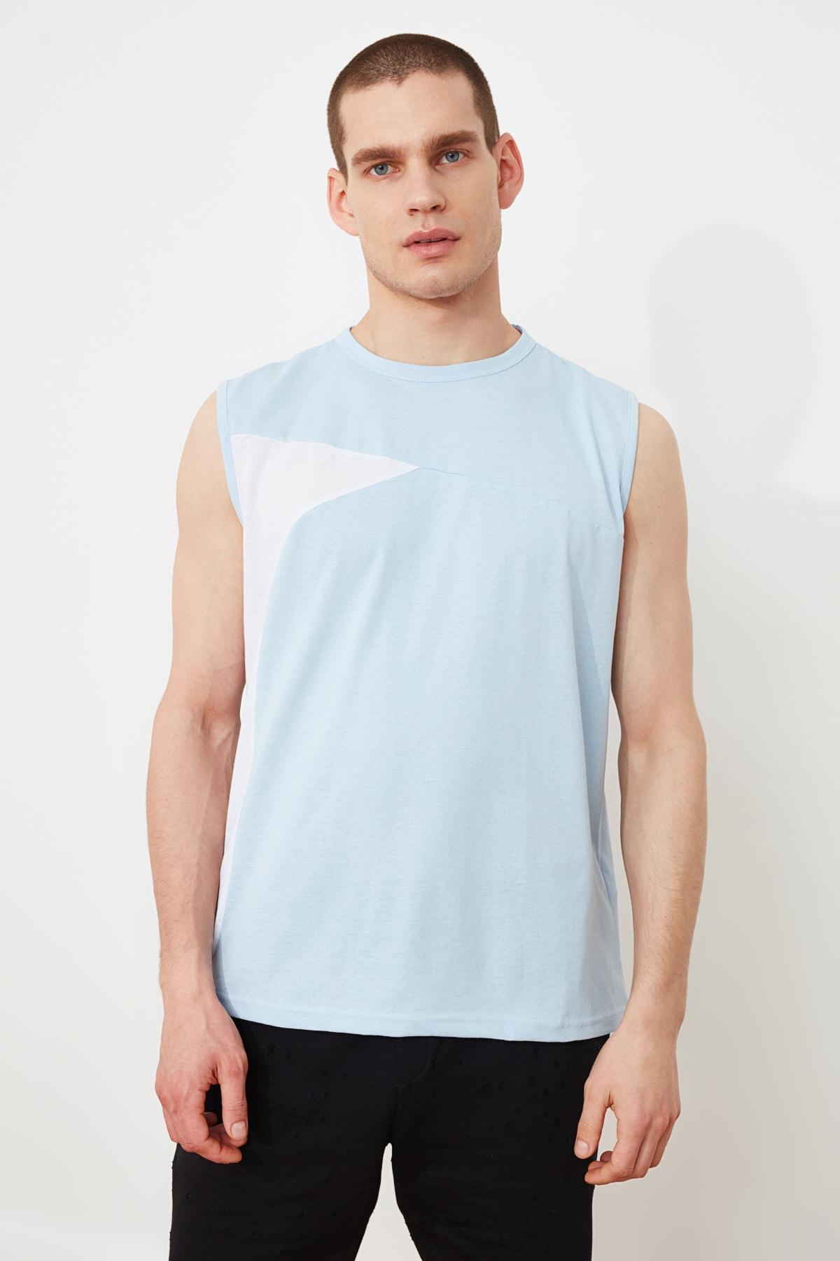 خرید انلاین رکابی مردانه خاص مارک ترندیول مرد رنگ آبی کد ty97060635