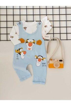 ست لباس نوزاد پسرانه اسپرت جدید برند sm bebek رنگ لاجوردی کد ty100367636