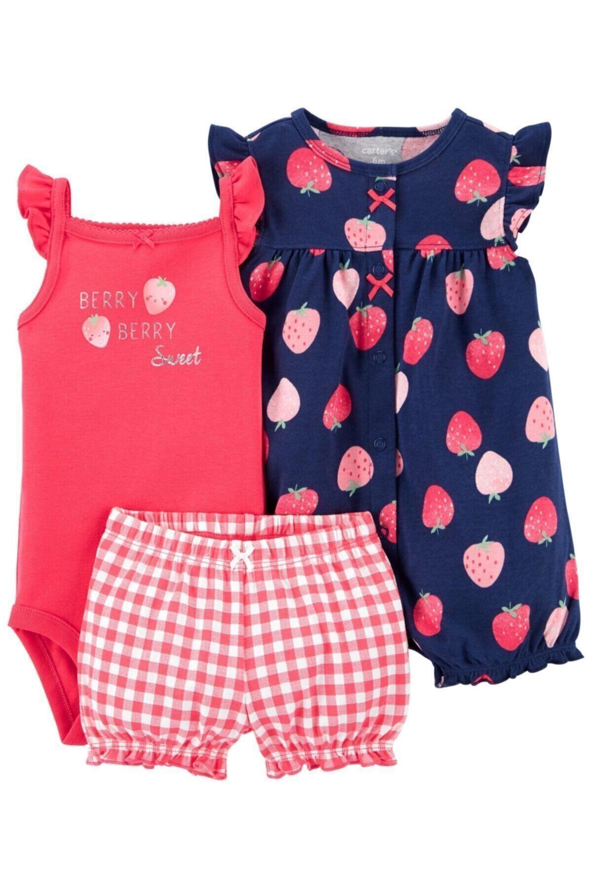 ست لباس ارزان برند Carters رنگ قرمز ty101903441