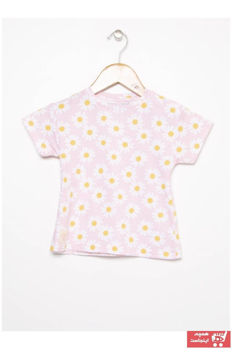 تیشرت زیبا نوزاد دخترانه برند Mammaramma رنگ صورتی ty103672219