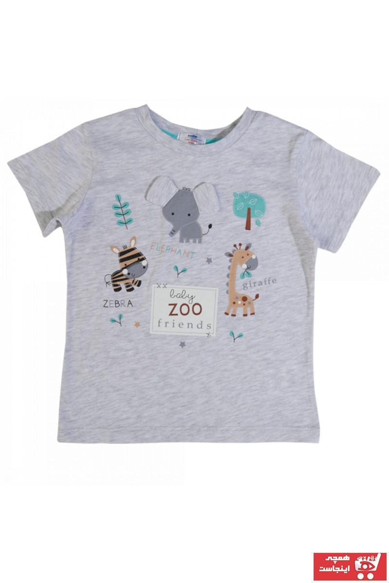 تیشرت نوزاد پسرانه اسپرت جدید برند Soobe رنگ بژ کد ty104107797