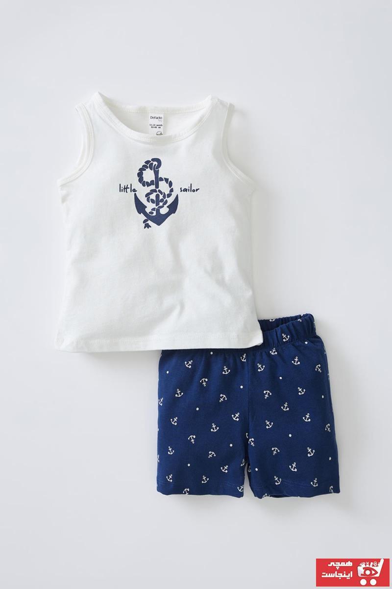 خرید ست لباس نوزاد پسرانه فانتزی برند دفاکتو رنگ بژ کد ty108203865