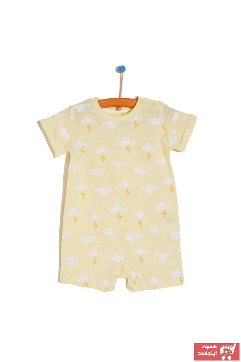 سرهمی نوزاد پسرانه برند HelloBaby رنگ زرد ty109613136