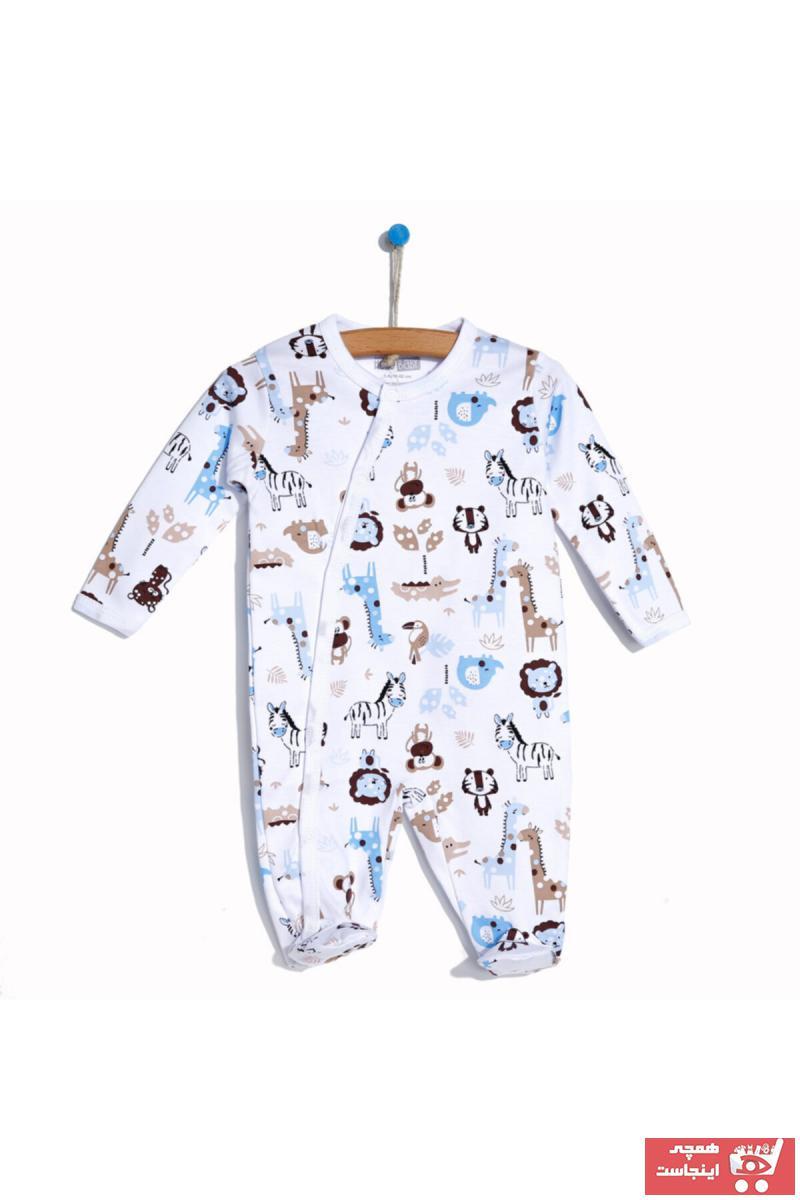 فروش سرهمی نوزاد پسرانه حراجی برند HelloBaby رنگ آبی کد ty109614584
