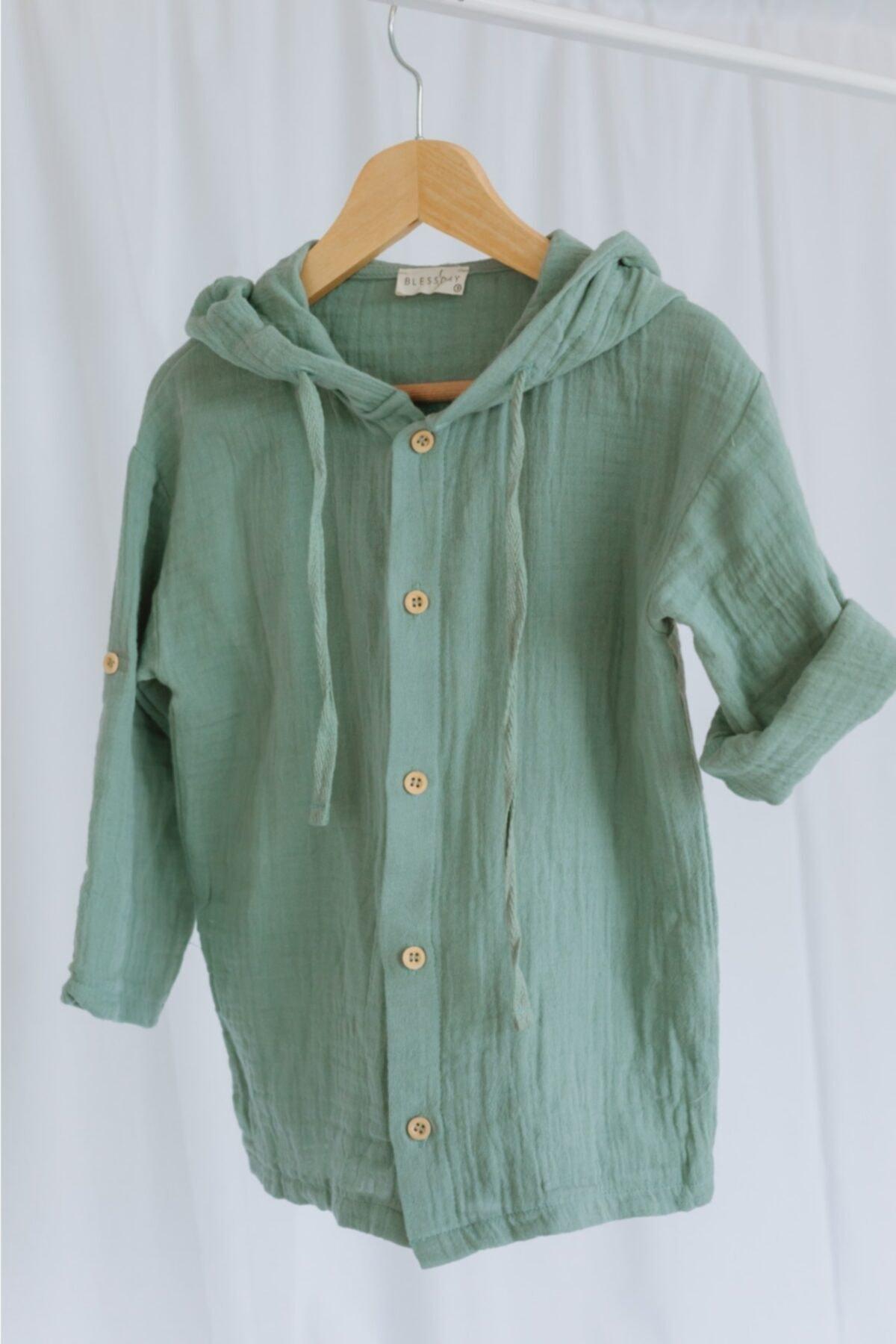 شومیز نوزاد دختر برند Blessday رنگ سبز کد ty113795354