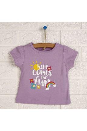 تیشرت نوزاد دخترانه مارک دار برند HelloBaby رنگ بنفش کد ty113871019