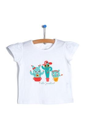 تیشرت نوزاد دخترانه زیبا برند HelloBaby رنگ کرمی کد ty113871099