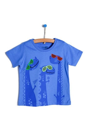 تیشرت نوزاد پسرانه قیمت برند HelloBaby رنگ لاجوردی کد ty113871470