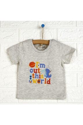 تیشرت جدید نوزاد پسرانه شیک برند HelloBaby رنگ نقره ای کد ty113874890