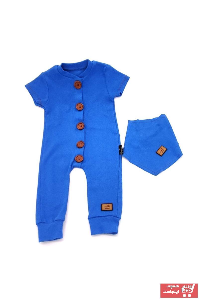 سرهمی نوزاد پسرانه مدل 2021 برند By Murat رنگ آبی کد ty114770461