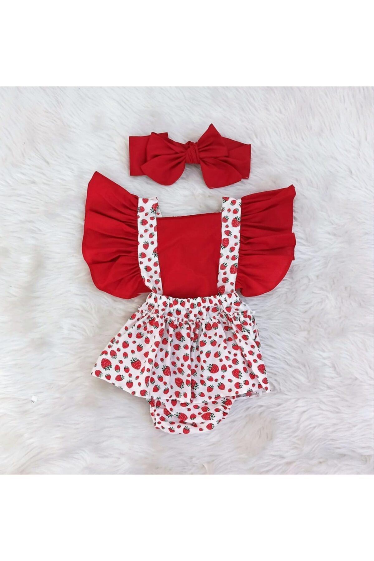 خرید مدل ست لباس نوزاد دخترانه برند AKİF GİYİM رنگ قرمز ty115636437