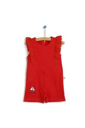 سرهمی ارزان نوزاد دخترانه برند Bebbek رنگ قرمز ty117903585